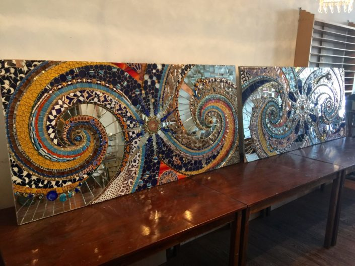 Restaurant Barca Mozaiek Mosaicaffairs bar kunst interieur kunst