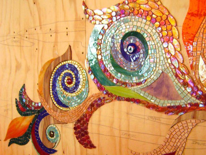 Coffeeshop Amsterdam Abraxas Mozaïek Siomara van Eer MosaicAffairs mosaic art in opdracht weed hash weedolie