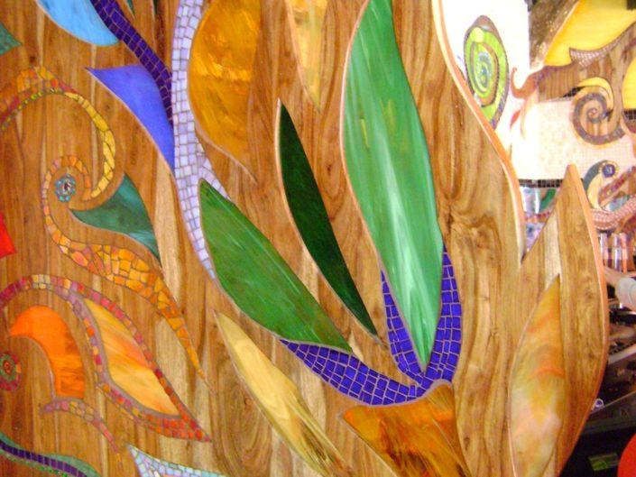 Coffeeshop Amsterdam Abraxas Mozaïek Siomara van Eer MosaicAffairs mosaic art in opdracht weed weedolie hash