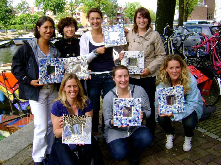 vrijgezellenfeest mozaiek workshop Mosaicaffairs