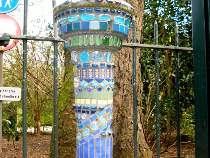 Waterhappertje mozaiek Mosaicaffairs Waternet water mosaic art