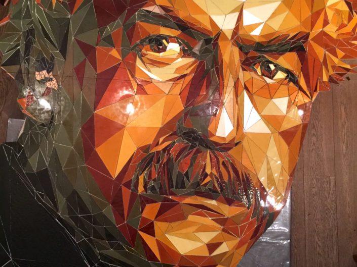 Mozaïek Wibaut Mosaicaffairs glas mozaïek kunstwerk