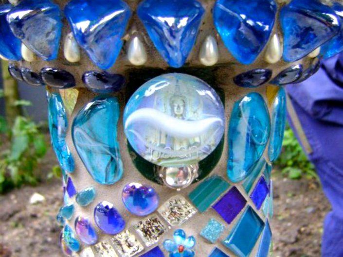 Waterhappertje mozaiek Mosaicaffairs mosaic art