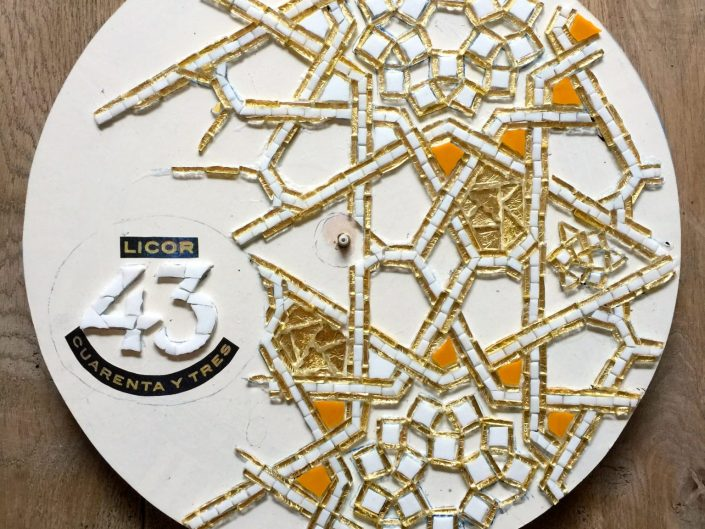Mozaïek klok Licor 43 Orochata MosaicAffairs