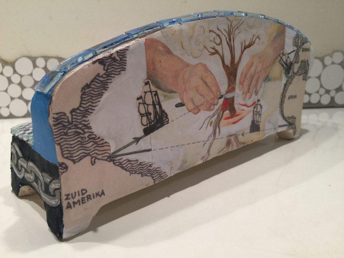 Keti Koti gedenk kunstwerk Suriname, Slavernij mozaìek sofa MosaicAffairs