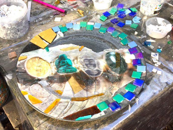 MosaicAffairs mozaïek workshop Mosaic of Broken Dreams